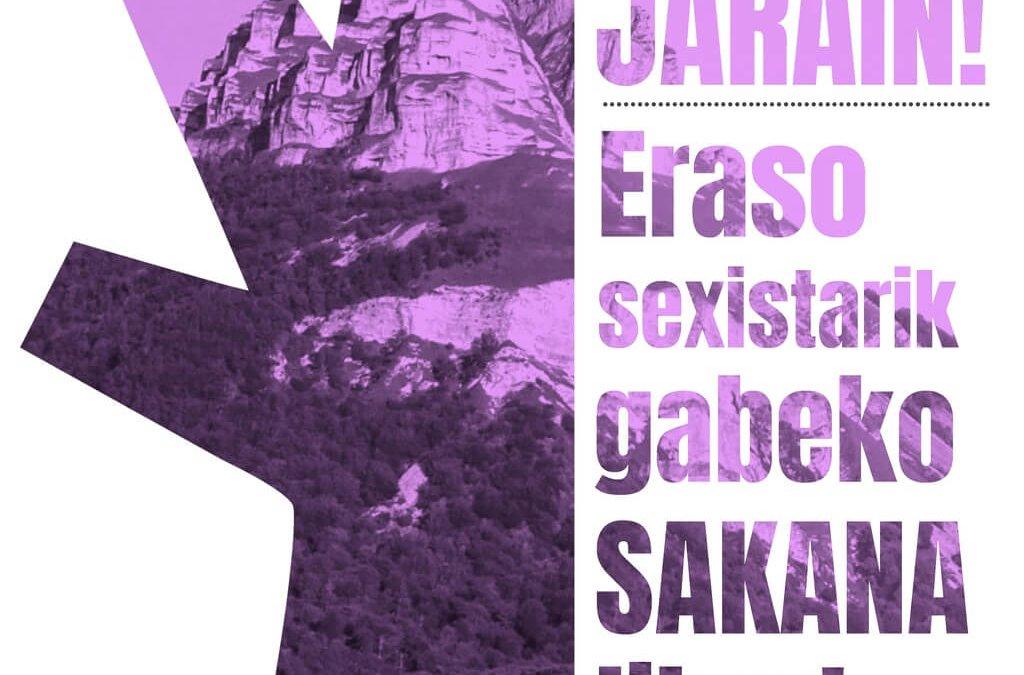Eraso sexistarik gabeko Sakana libre. Festetako kanpaina